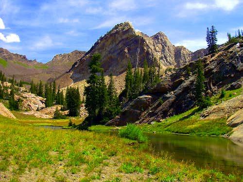 A small lake, Mt Superior and Monte Cristo
