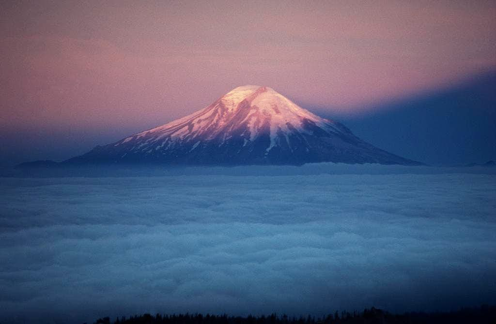 Mt. St. Helens during a 1978 sunrise