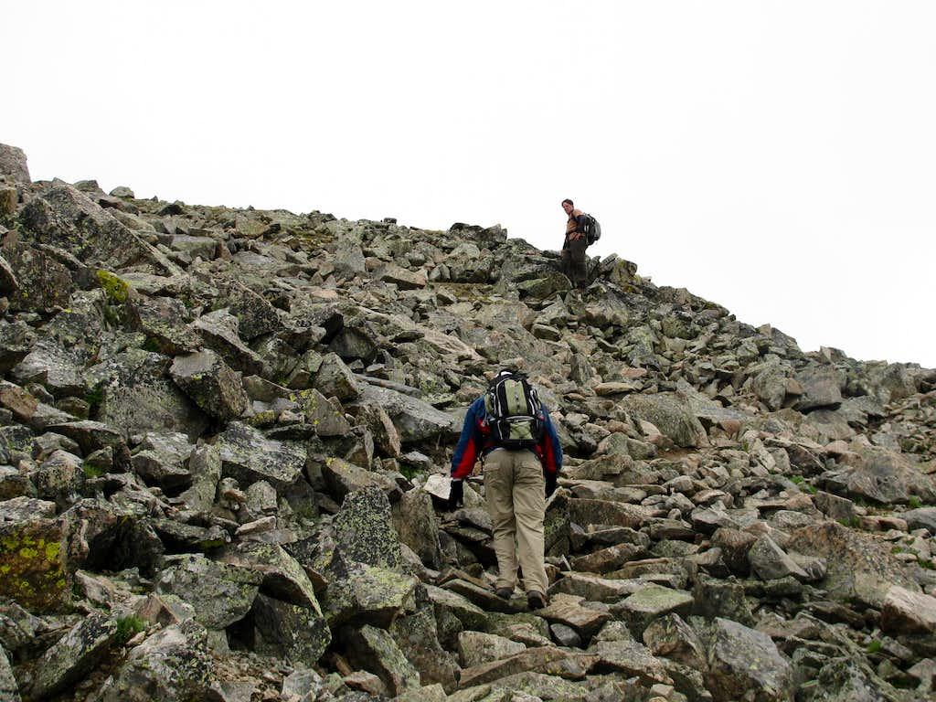 Boulderfield on La Plata Peak