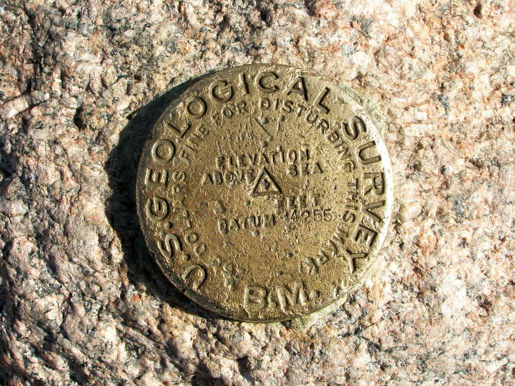 Longs Peak Summit Marker