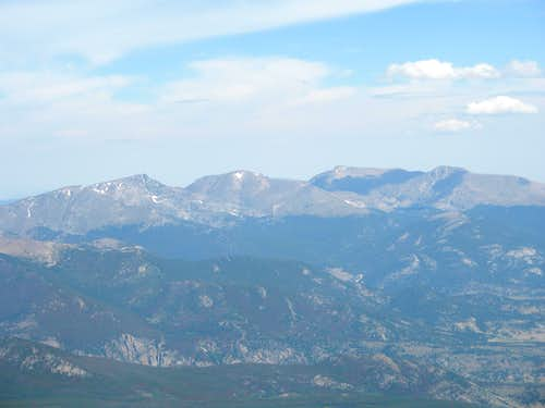The Mummy Range from Longs Peak