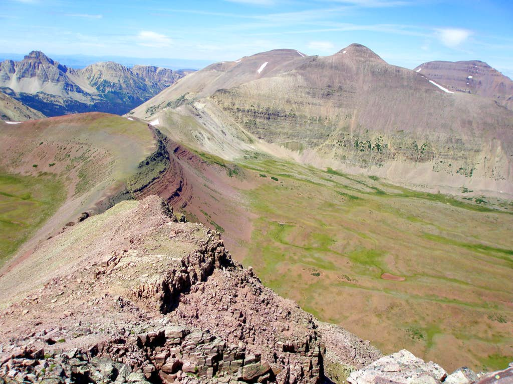 NW ridge of Mount Lovenia