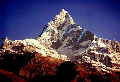 Machhapuchare in October 1979...