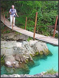 A hanging bridge over Soca
