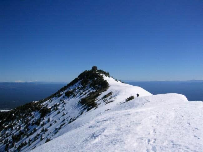The summit ridge of Mt Scott...