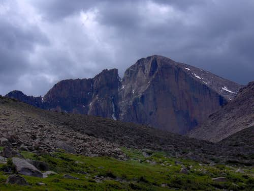 Clouds Gather over Longs Peak