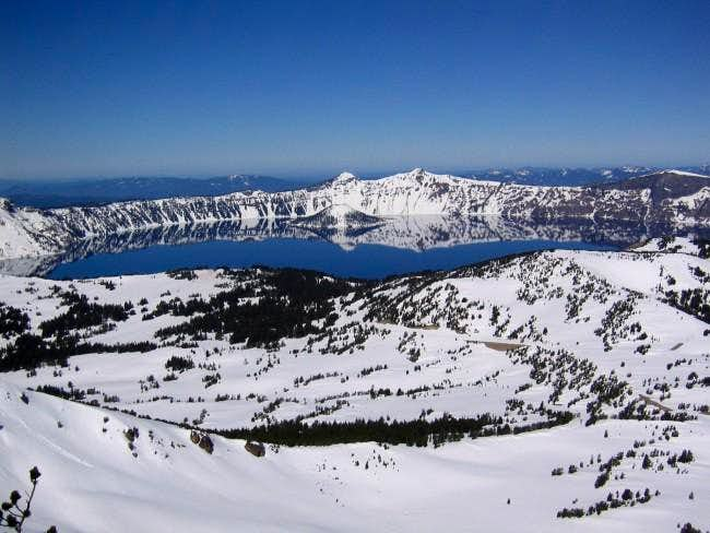 View of Crater Lake from the...