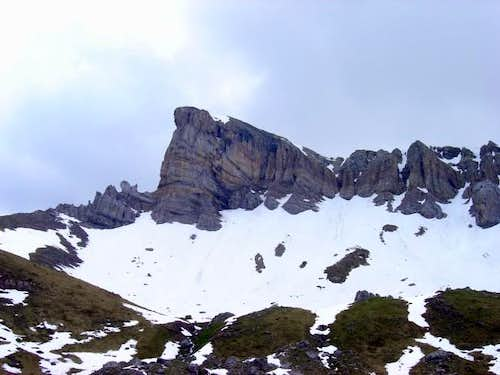 View of north face of Chipeta...