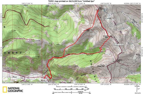 Cataract Creek Route Map