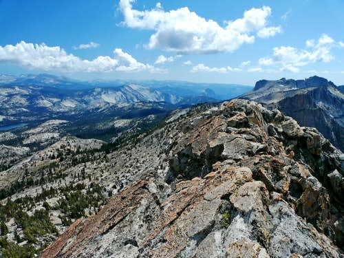 South from Tuolumne Peak south summit