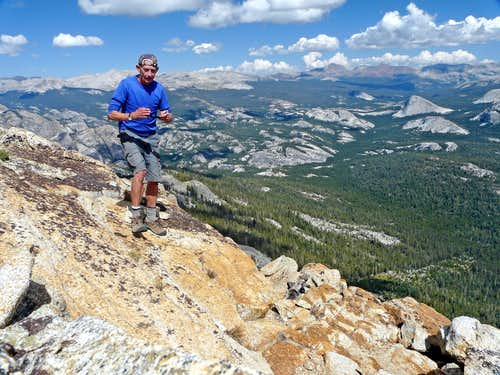 On the northeast summit of Tuolumne Peak