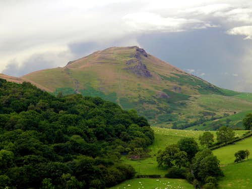 Caer Caradoc Hill from Hazler Hill