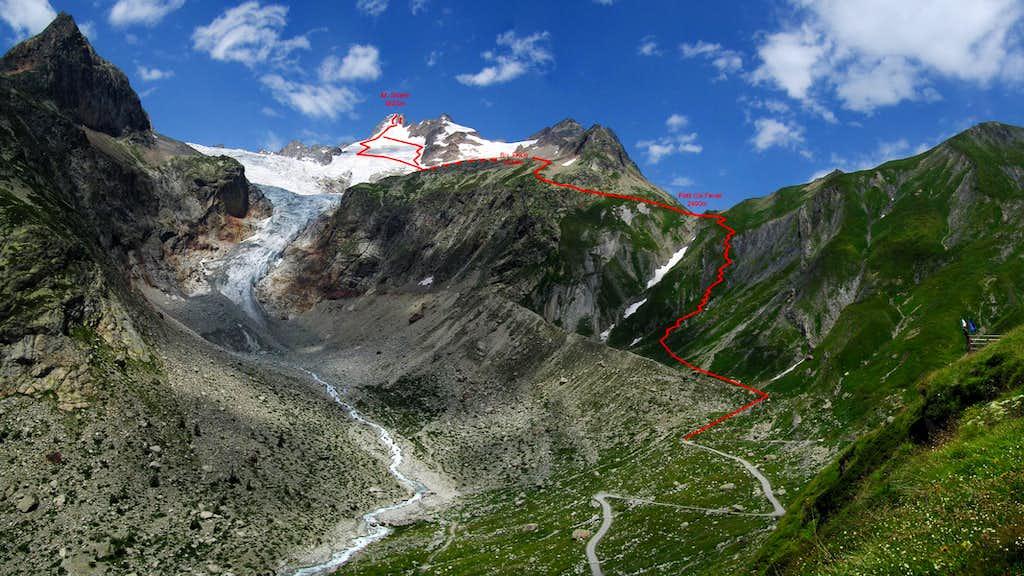 Route to Mont Dolent