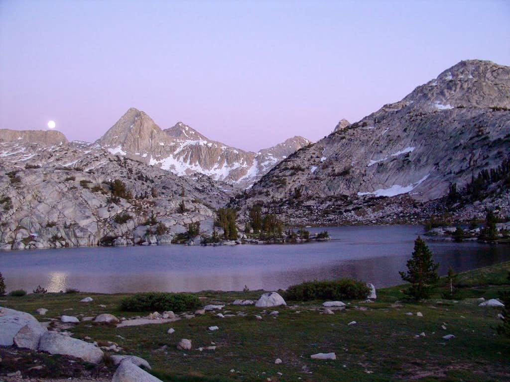 Evolution Lake in Moonlight_John Muir Trail_CA_July4_09