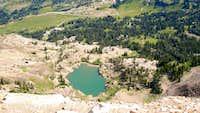 Cecret Lake from Sugarloaf Peak