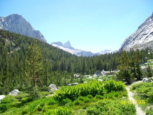 A view of Sawtooth Peak and Needham Mountain from Lost Canyon