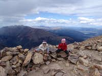 Mt Elbert_14433ft_CO_Yunona&Alice having fun