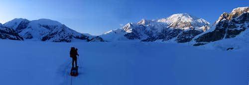 Denali from the Kahiltna Glacier 11pm
