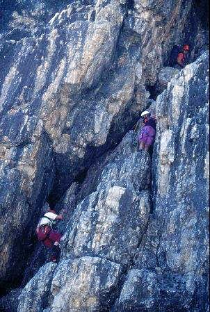 abseiling over the steepest...