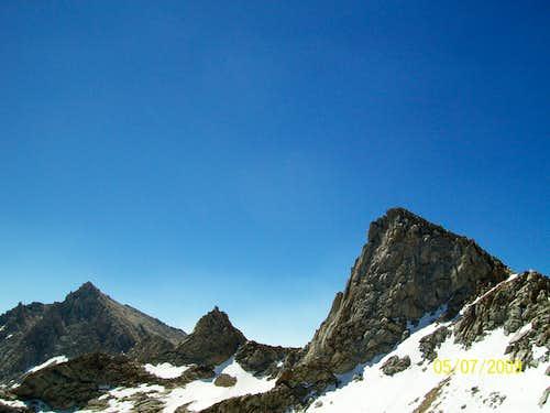 Sawtooth Peak and Needham Mountain from Sawtooth Pass