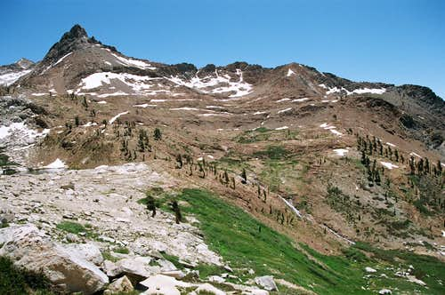 Mineral Peak above Lower Monarch Lake