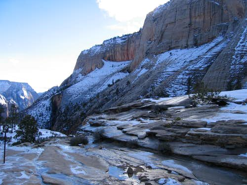 West Rim Trail in Winter