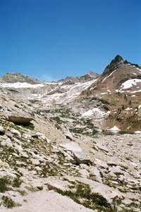 The Monarch Lake drainage below Mineral Peak