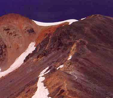 The summit of Redcloud 1989....
