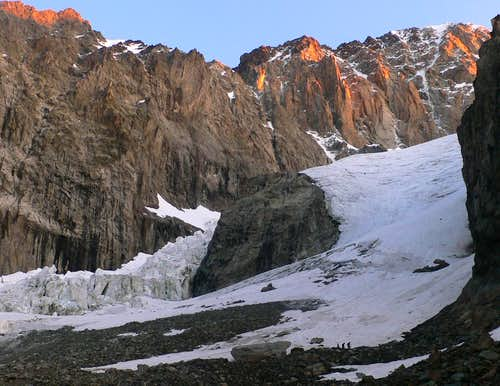 Access point to the glacier