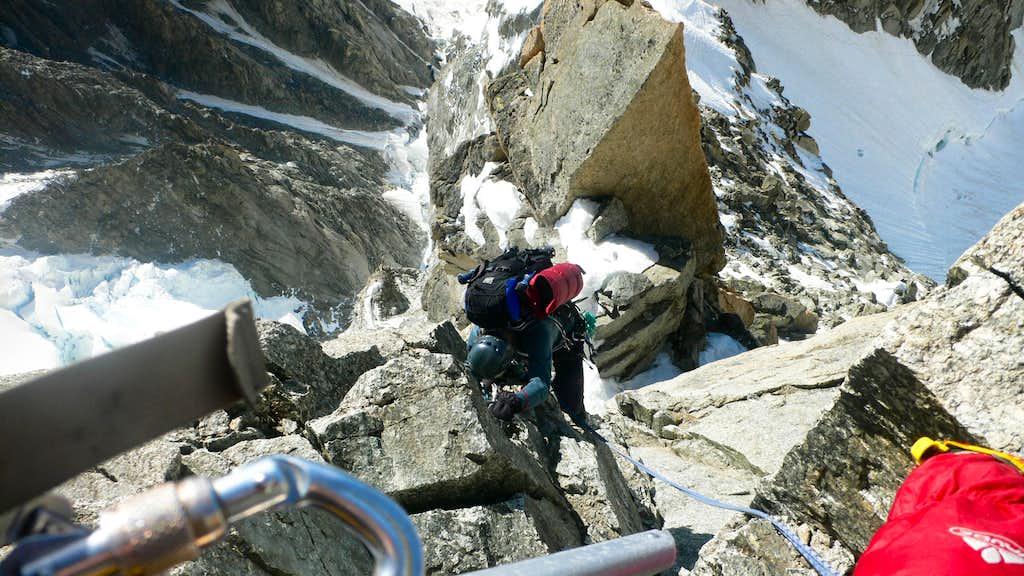 Good climbing on the ridge