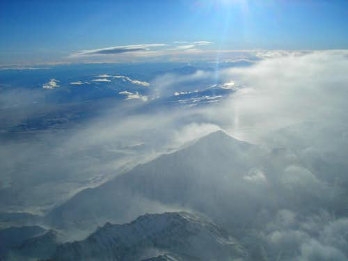 Mount Tom from the air