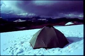 advanced camp on the glacier...