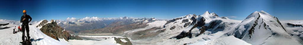 Pollux summit panorama