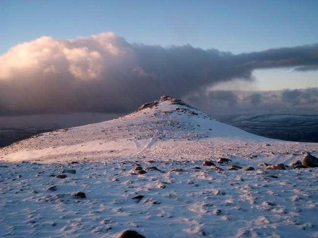 Summit of Lochnagar just...