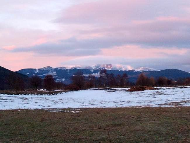 Lochnagar just after sunrise...