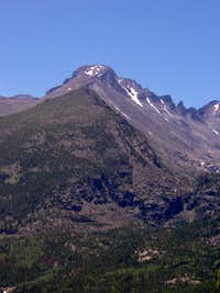 Longs Peak from Flattop Mountain Trail