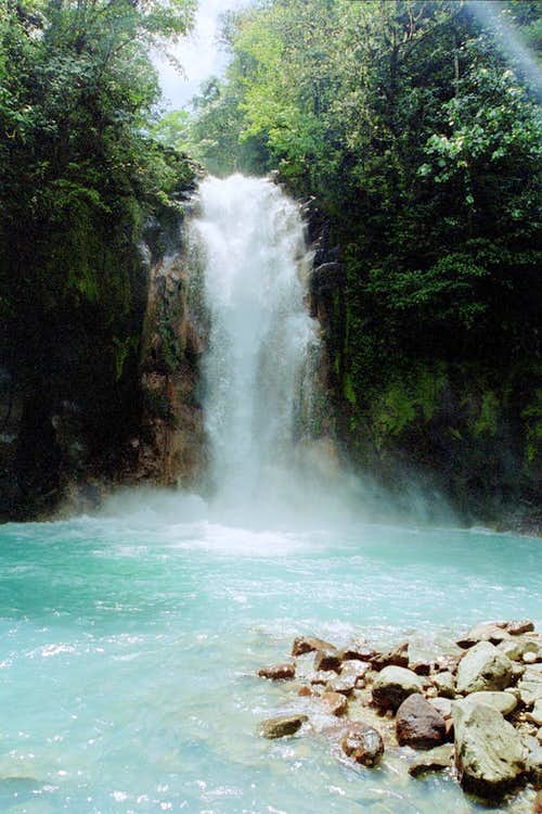Waterfall on Rio Celeste