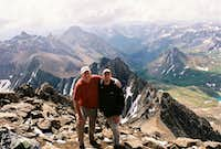 My Dad and Me on Mt. Sneffels