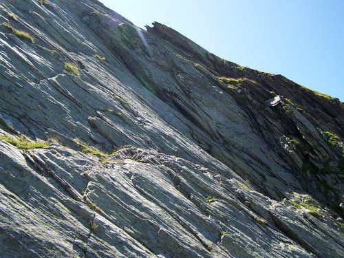 Sefiarspitze is built of schist