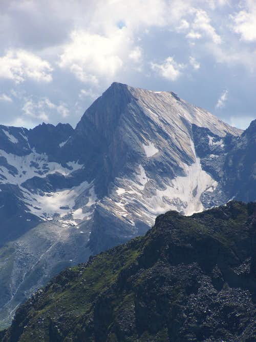 Lodner (3228 m) as seen from Sefiarspitze