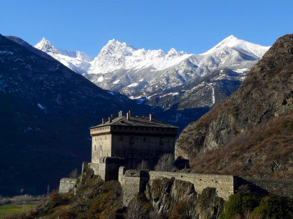 Mont Avic from Verres