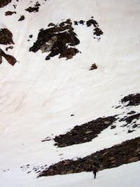 Tracks on mt. Neva's East Face