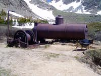 Old Mining equipment at the 4th of July trail head