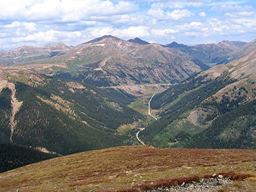 View of Route 82 & Independence Pass