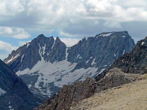 "Mt. Dade and Mt. Abbot from ""Mono Pass Peak"""