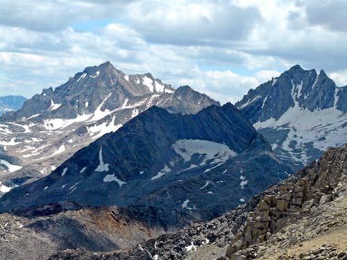 Bear Creek Spire, Treasure Peak and Mt. Dade