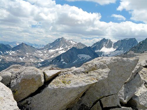South from  Mono Pass Peak
