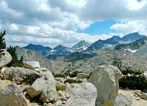 Sierra crest from Mono Pass Trail