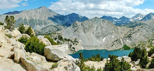 South from Mono Pass Trail