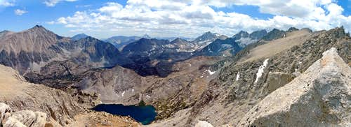 "Little Lakes Valley pano from ""Mono Pass Peak"""